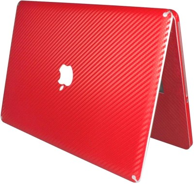Pindia Red 3 Pc Mc700hn/A & Mc700ll/A Carbon Fiber Sticker Cover Skin Vinyl Laptop Decal