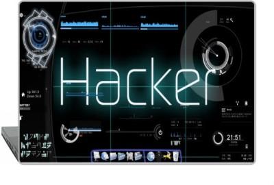 Digitek World Skin of Hacker High Quality 3M Vinyl Laptop Decal 15.6