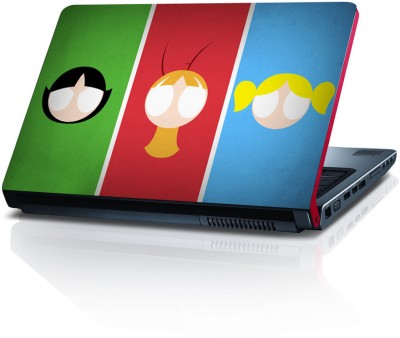 Shopkeeda Amazing Powerpuff Girls Vinyl Laptop Decal