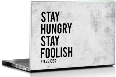 Seven Rays Steve Jobs Stay Hungry Stay Foolish Vinyl Laptop Decal 15.6