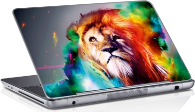 Innovate Colorful Lion Face_058 Vinyl Laptop Decal 15.6