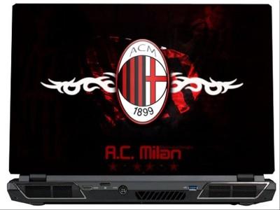 SkinShack AC Milan Logo Art (17 inch) Vinyl Laptop Decal 17