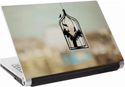 142Skin Bird Cage Vinyl Laptop Decal