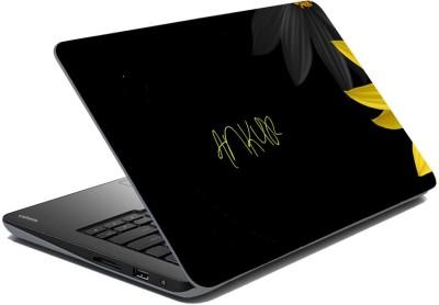 meSleep Black Flowers for Ankur Vinyl Laptop Decal 15.6