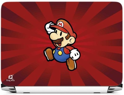 FineArts Mario Red Background Vinyl Laptop Decal