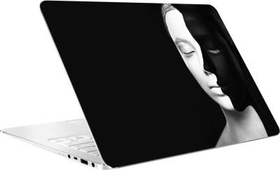 AV Styles Black And White Dual Face Of Girl By Av Styles Vinyl Laptop Decal 15.6