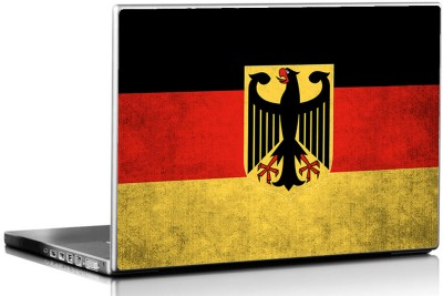 Seven Rays Grunge Germany Flag Vinyl Laptop Decal 15.6