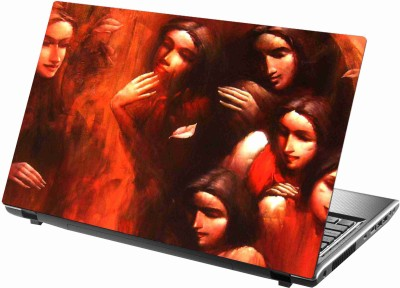 Sab Kuch Print Group Of Girls 153 Polyester Laptop Decal 14.1