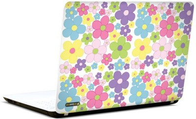 PicsAndYou Floral Pattern Abstract Vinyl Laptop Decal 15.6