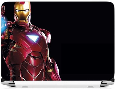 FineArts Iron Man on Half Vinyl Laptop Decal 15.6