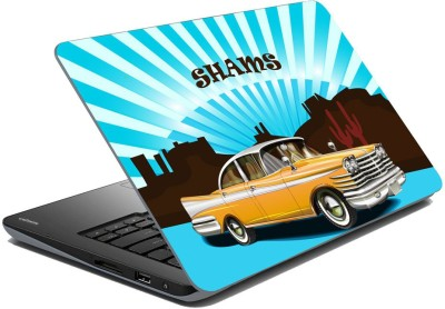 meSleep Vinatge Car for Shams Vinyl Laptop Decal 15.6