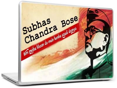 Print Shapes Subhas Chandra Bose Vinyl Laptop Decal 15.6