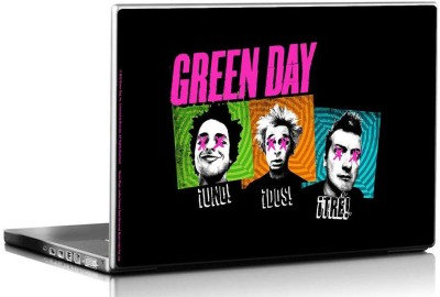 Bravado Green Day Uno Dos Tre Vinyl Laptop Decal