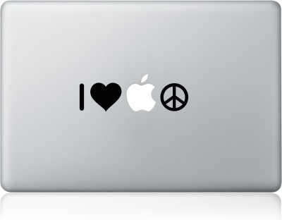 Clublaptop Sticker I Love Apple 11 inch Vinyl Laptop Decal