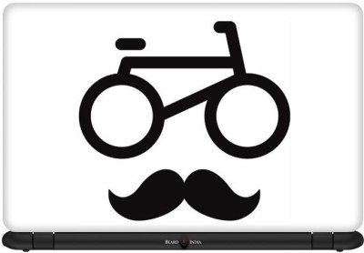 Beard India Cycle Stache Vinyl Laptop Decal