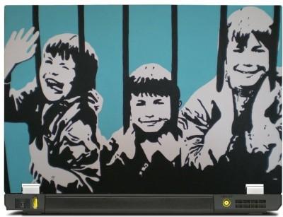 Skinkart Wall Graffiti Laptop Skin Type 30 (Screen Size 17 inch) Premium quality Imported Vinyl Laptop Decal 17
