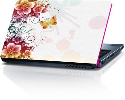 Shopmillions Butterfly On Flower Vinyl Laptop Decal