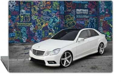 Digitek World Skin of Mercedes E Class Tuning White Graffit High Quality 3M Vinyl Laptop Decal 15.6
