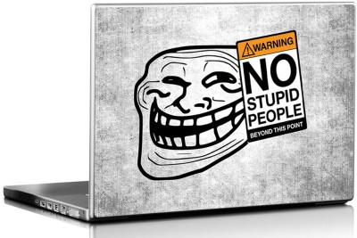 Seven Rays No Stupid People Vinyl Laptop Decal