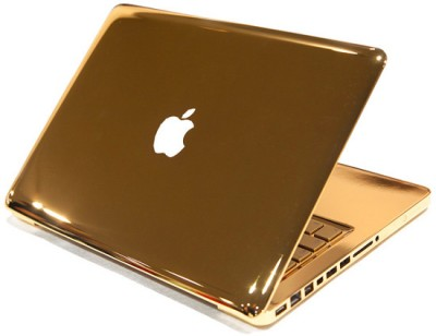 TopSkin Gold Chrome Precut Macbook Skin Vinyl Laptop Decal (Macbook Pro 13)