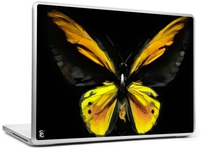 Print Shapes Yellow butterfly Vinyl Laptop Decal 15.6