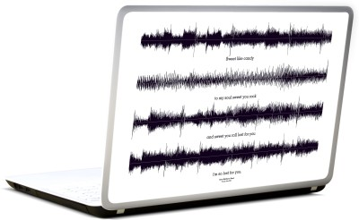 Lab No. 4 Crash Into Me Songs Lyrics Vinyl Laptop Decal 17