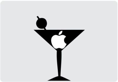 Engrave Apple Martini Vinyl Laptop Decal