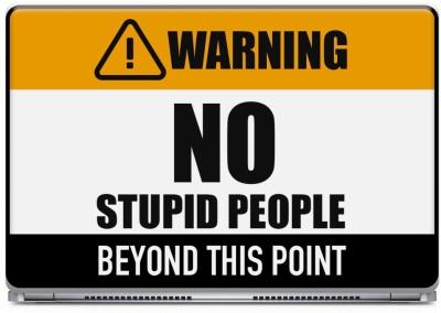Posterboy Warning - No Stupid People Vinyl Laptop Decal