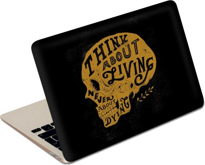 The Fappy Store Think About Living Stylish Funky Vinyl Laptop Decal