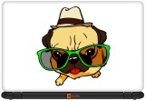 Urban Monk Pug Life Vinyl Laptop Decal 1...