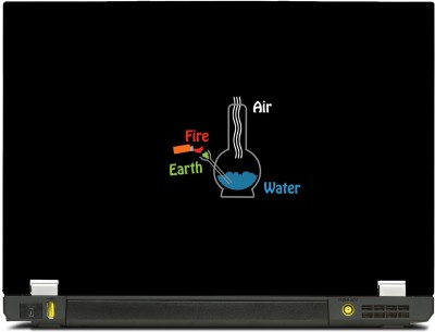SkinShack New 3D Fundamental Elelments Fire, earth, Water, Air Chemistry Minimal (13.3 inch) Vinyl Laptop Decal 13.3