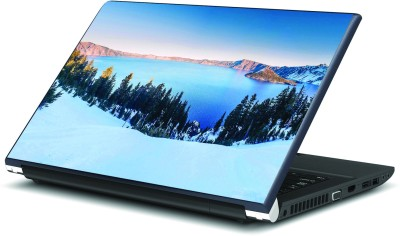 Artifa Crater Lake in Winters Vinyl Laptop Decal