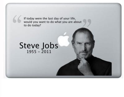 AV Styles Steve Job Quote 2Nd Transparent vinyl Laptop Decal 14