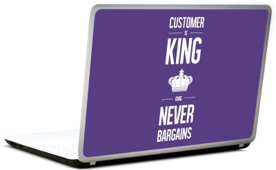 Lab No. 4 Customer Is King Inspirational Quote Vinyl Laptop Decal 17