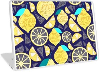livestash bright lemon vinyl Laptop Decal