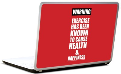 Lab No. 4 Warning Notice Gym & Fitness Vinyl Laptop Decal
