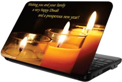 Printland Glass Candles Diwali Skin Vinyl Laptop Decal 12