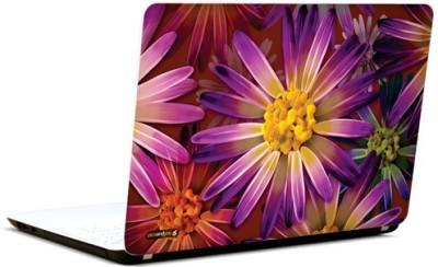 PicsAndYou Purple Flower Abstract Vinyl Laptop Decal 15.6