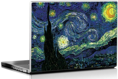 Seven Rays Starry Night By Vincent Van Ghogh Vinyl Laptop Decal 15.6