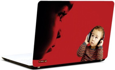 Pics And You Kid With Headphones 2 Vinyl Laptop Decal 15.6