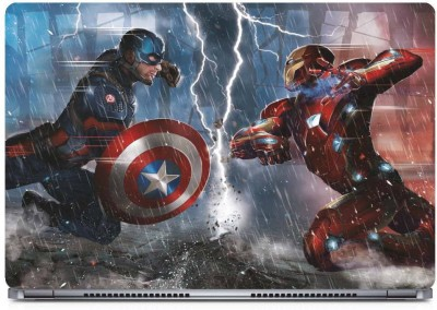 Marvel Civil War fight Vinyl Laptop Decal 15.6