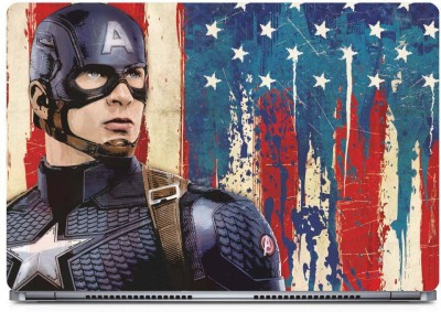Marvel Captain America action Vinyl Laptop Decal 15.6