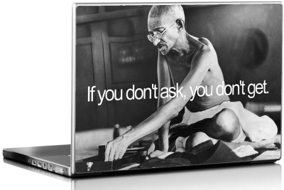 Seven Rays Gandhiji if you don,t Ask Vinyl Laptop Decal 15.6