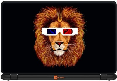 Ownclique Lion in 3D Glasses Vinyl Laptop Decal 17