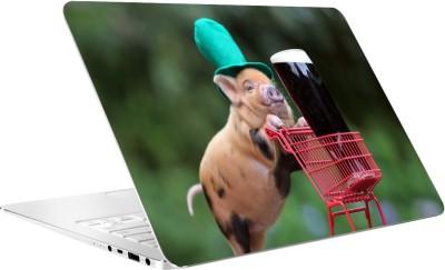 AV Styles Pig And Cock By Av Styles Vinyl Laptop Decal 15.6