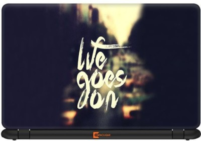 Ownclique Life Goes On Vinyl Laptop Decal 14.1