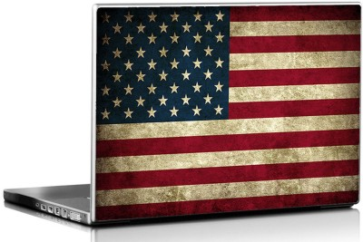 Seven Rays Grunge Usa Flag Vinyl Laptop Decal 15.6