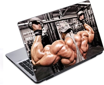 ezyPRNT Pushing Everything Hard Body Building (14 to 14.9 inch) Vinyl Laptop Decal 14