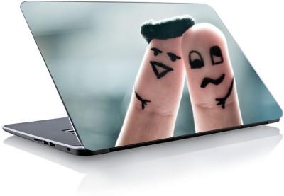 Devendra Graphics finger show couple Vinyl Laptop Decal 15.6