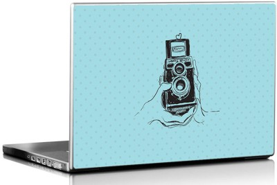 Seven Rays Vintage Camera Click Skin Vinyl Laptop Decal 15.6